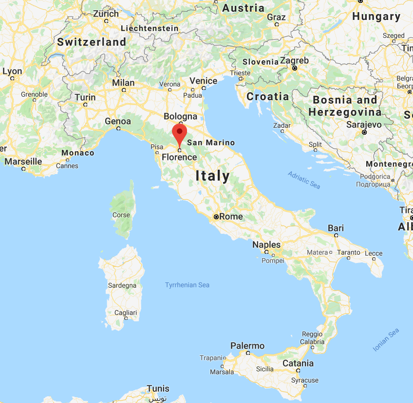 Google Map of Florence, Italy